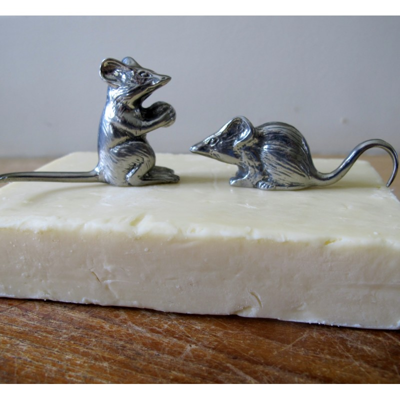 Pewter Cheese Mice