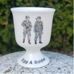 Egg Cup - Egg + Soldier (WW2)