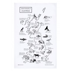 Extinct Animals GB Tea Towel