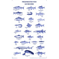 Fishing Records UK - Tea Towel