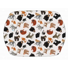 Melamine Monkey & Ape Tray with Handles