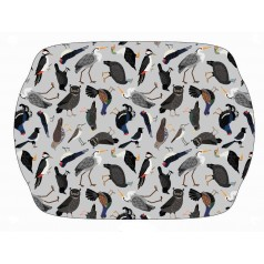 Melamine Bird Tray With Handles